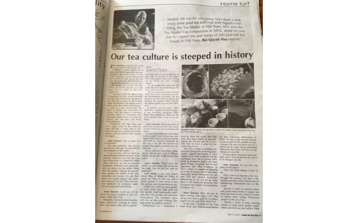 VietNamNews_Việt Nam's tea culture is steeped in history